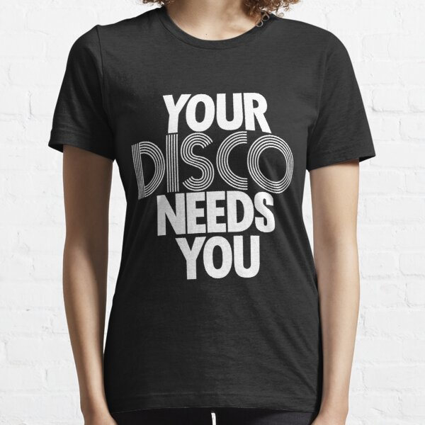 Kylie Minogue - Your Disco Needs You (white text) Essential T-Shirt