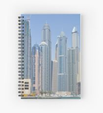 Photography of tall buildings, skyscrapers from Dubai. United Arab Emirates. Spiral Notebook