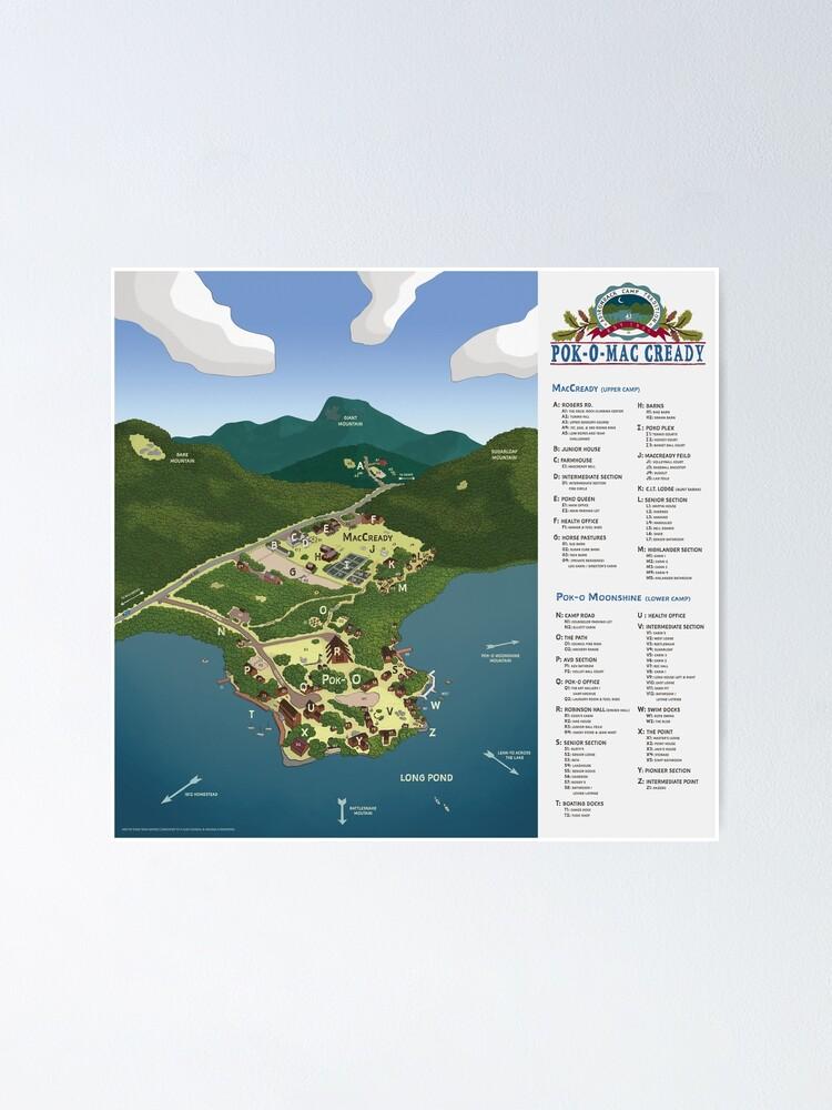 Alternate view of Pok-O-MacCready Map Poster