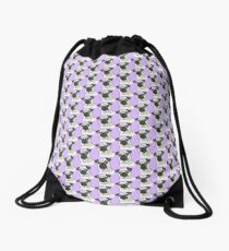 Pugly Is Beautiful in Lavender Drawstring Bag