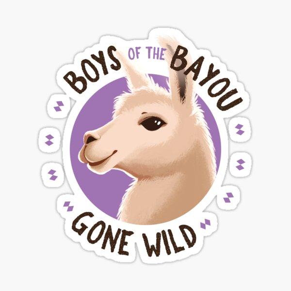 Boys of the Bayou Gone Wild-llama Sticker