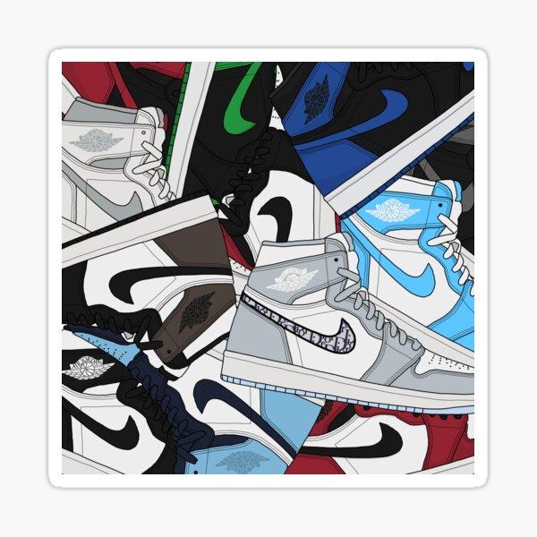 Jordan 1 Group Collage Sticker