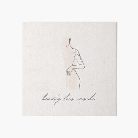 Beauty lies inside - abstract line art Art Board Print