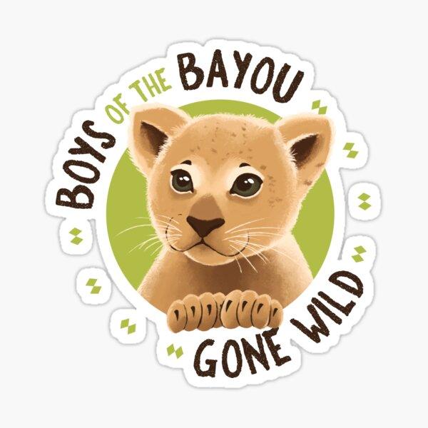 Boys of the Bayou Gone Wild-lion Sticker
