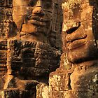 Bayon Temple faces by Mark Bolton