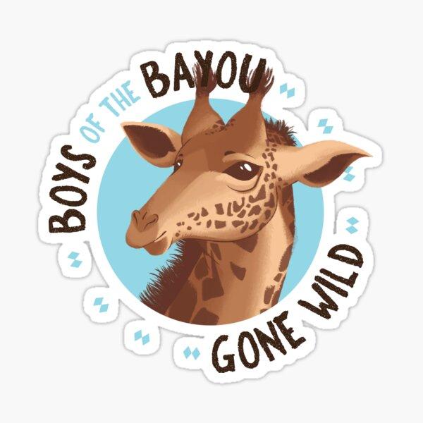 Boys of the Bayou Gone Wild-Giraffe Sticker