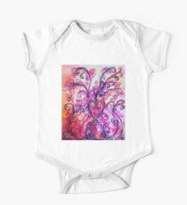 PINK HEART WITH FUCHSIA PURPLE WHIMSICAL FLOURISHES  Kids Clothes