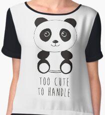 cute panda Chiffon Top