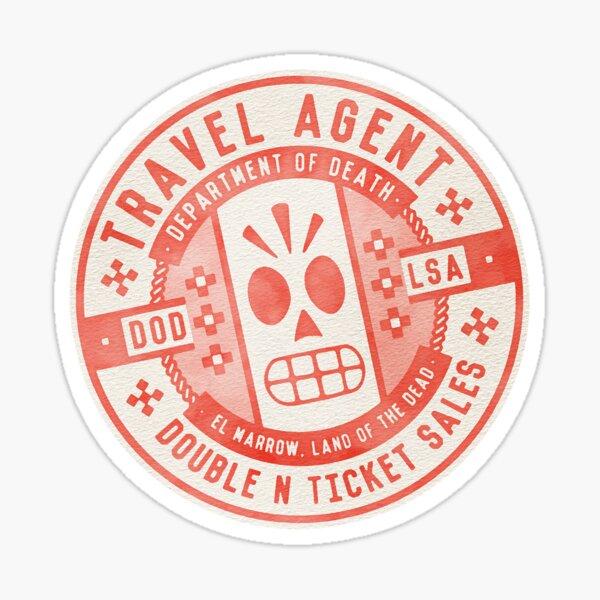 Department of Death - Travel Stamp Sticker