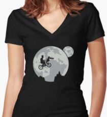 Rocket Escape Women's Fitted V-Neck T-Shirt