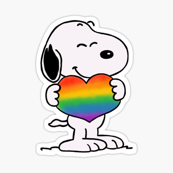 LGBT + Snoopy Sticker