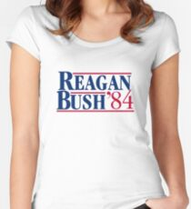 Reagan Bush Women's Fitted Scoop T-Shirt
