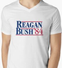 Reagan Bush Men's V-Neck T-Shirt