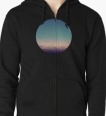Sunset frosted  Zipped Hoodie