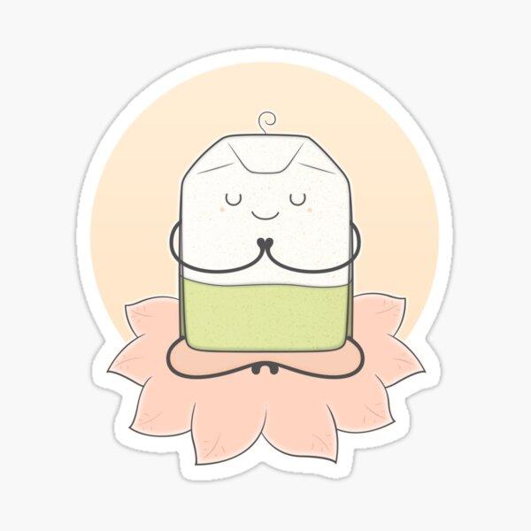 very zen green tea Sticker