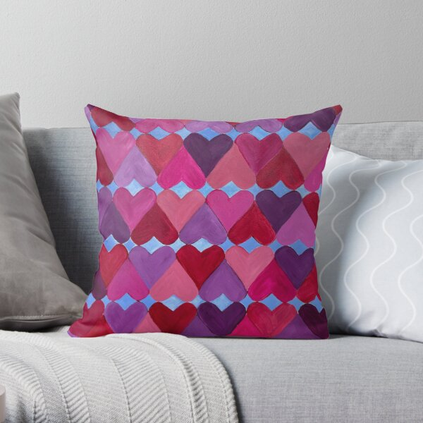 Hearts Aligned Throw Pillow
