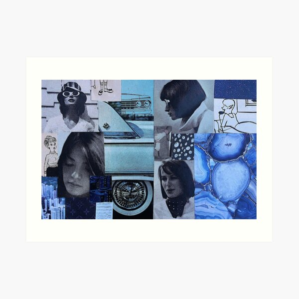 """Blues Clues"" collage art design  Art Print"