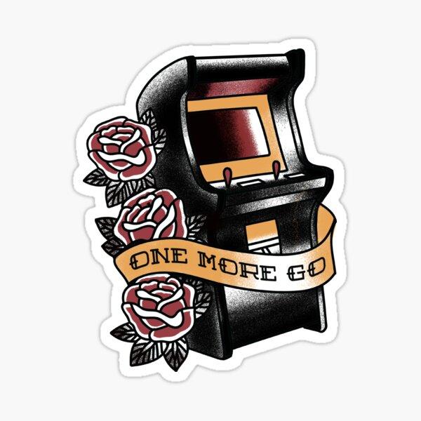 One More Go - Arcade Machine Traditional Tattoo Sticker