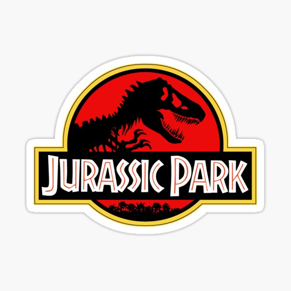 Jurassic Park T-Rex Logo Car Truck Bumper Window Sticker Calcomanía Dinosaurio Pegatina