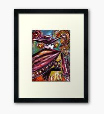 FAUST / Mysterious Mask with Tricorn and Owl Framed Print