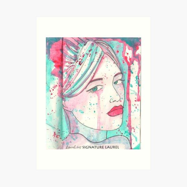 Splash Girl Art Print