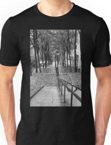 Escalier - Montmartre - Paris Black and White T-Shirt
