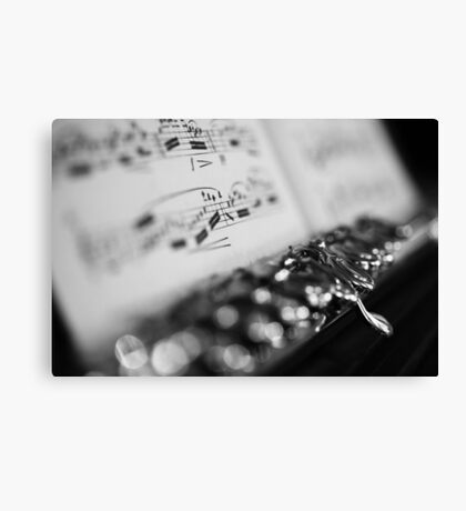 G# Black and White Canvas Print