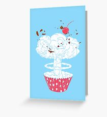 The cake's bomb Greeting Card