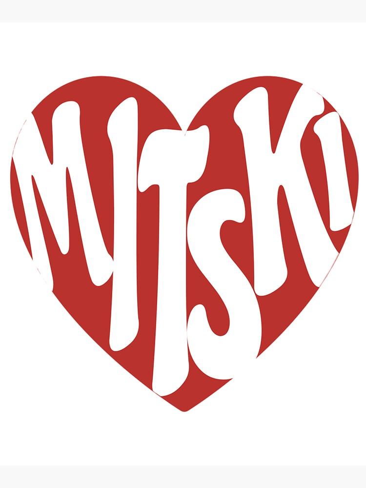 Mitski Heart Logo Sticker by nicolepee