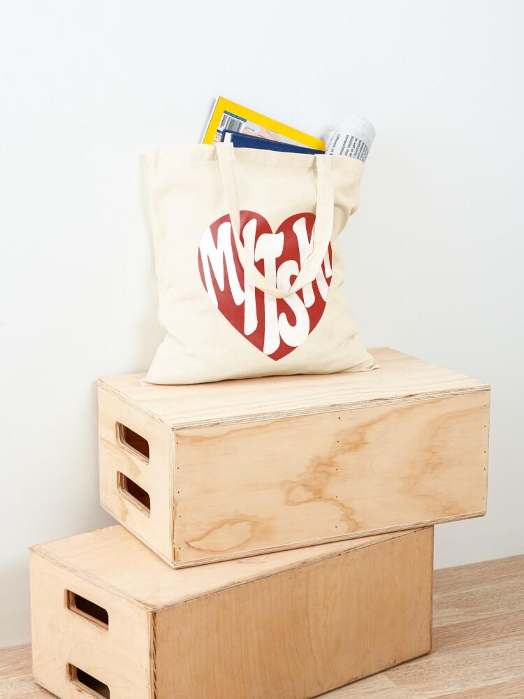 Alternate view of Mitski Heart Logo Sticker Tote Bag