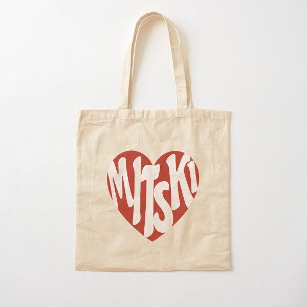 Mitski Heart Logo Sticker Cotton Tote Bag