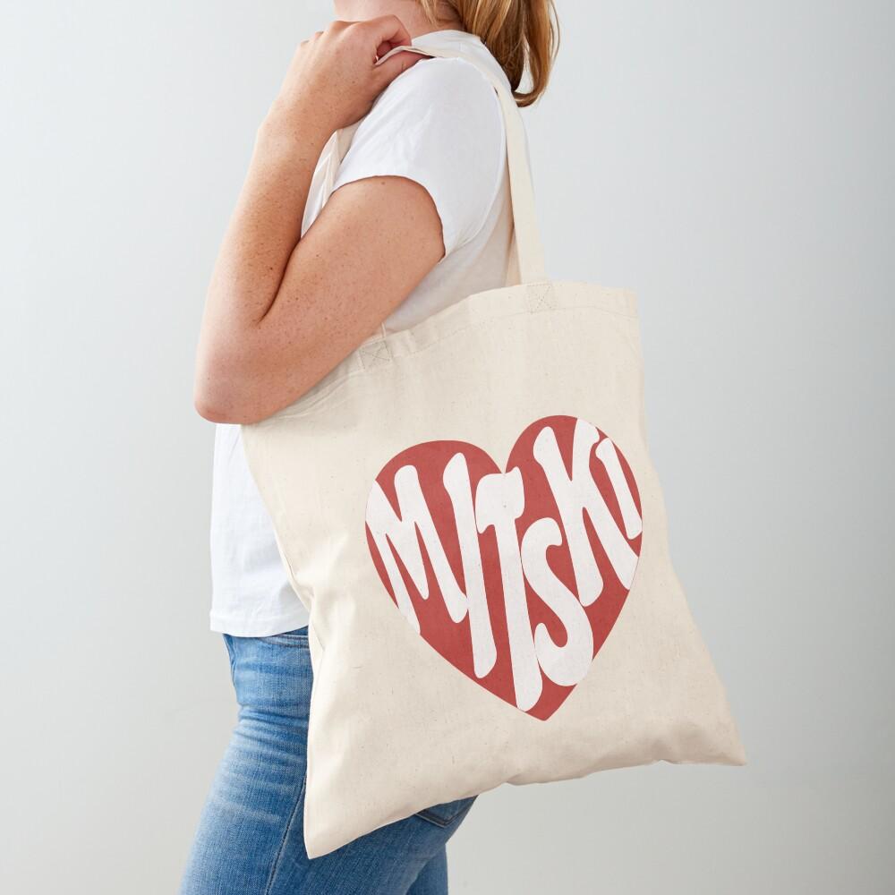 Mitski Heart Logo Sticker Tote Bag