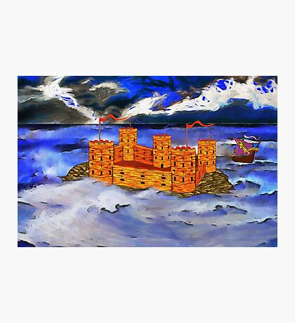 A Castle in the Sea Photographic Print