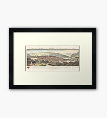 The east prospect of Sheffield in the County of York, 1745 Framed Print