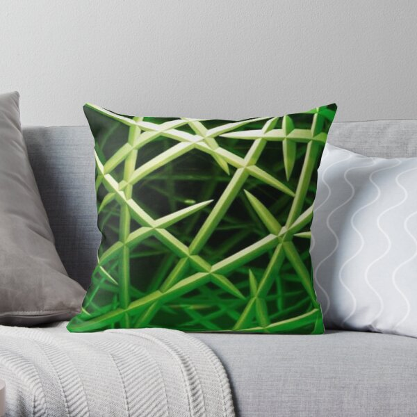 Lovely beautiful green and black colored pattern Throw Pillow