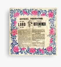Official programme of the visit of Lord Kitchener to Sheffield, 1901 Canvas Print