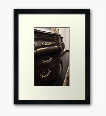 Chest of drawers ebony in interior Framed Print