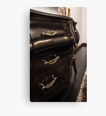Chest of drawers ebony in interior Canvas Print