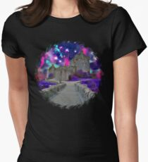 Space Castle Womens Fitted T-Shirt