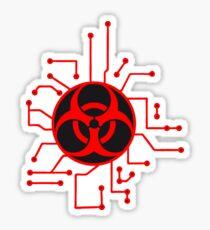 circuitry electrically symbol toxic virus bacteria zombie apocalypse biohazard sick electrician pandemic infected Sticker