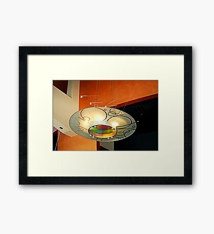Chandelier At The Rep Framed Print