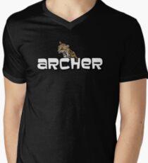"""Archer - Babou """"Fox eared asshole"""" Mens V-Neck T-Shirt"""