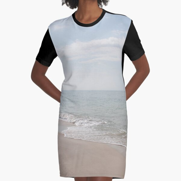 Pastel Waters Graphic T-Shirt Dress