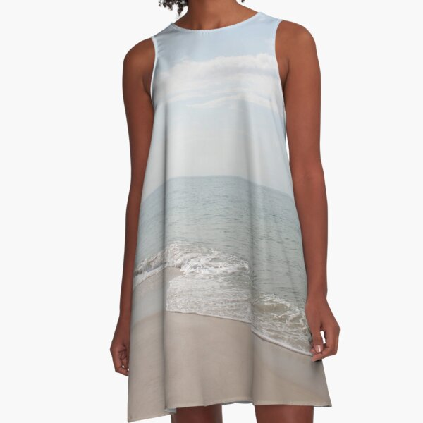Pastel Waters A-Line Dress