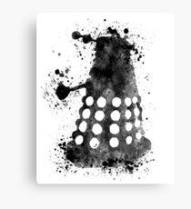Dalek Doctor Who Black & White Watercolour Canvas Print
