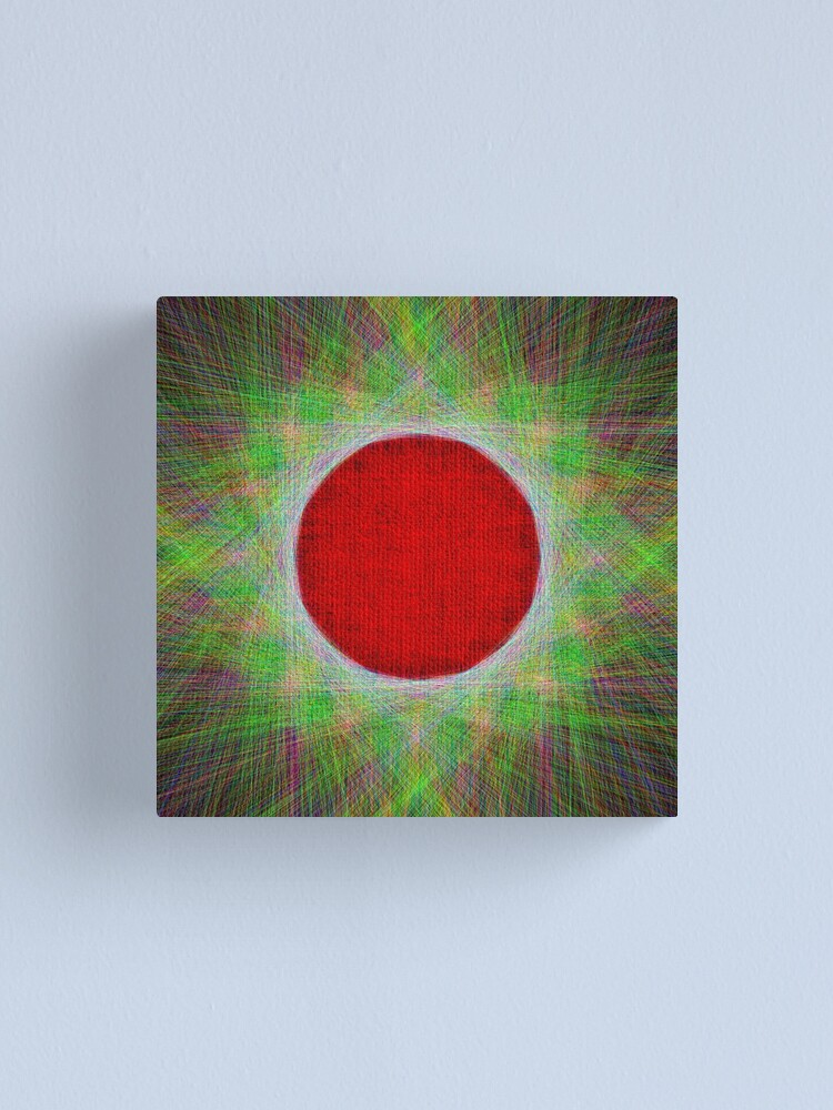 Alternate view of Red Button Planet Canvas Print
