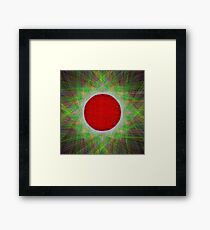 Red Button Planet Framed Print