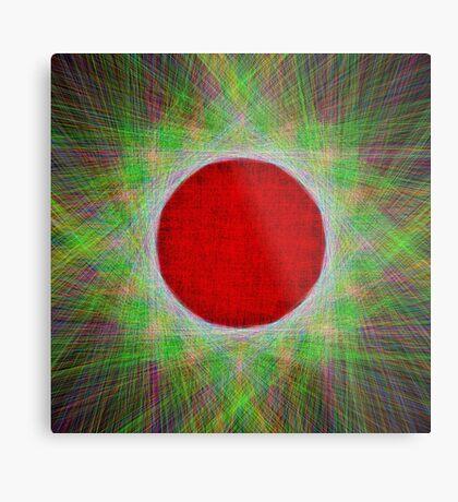 Red Button Planet Metal Print