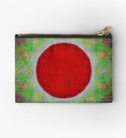 Red Button Planet Zipper Pouch