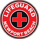 Lifeguard Newport Beach California Swim Swimming Surf Surfer Surfboard Waves Ocean Beach Vacation by MyHandmadeSigns